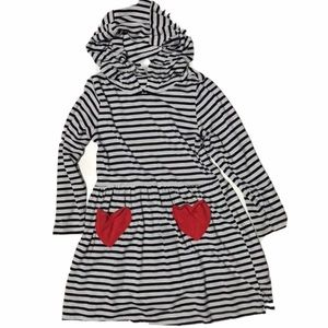 3 for 15$ ☀️ carters 3t striped hooded dress